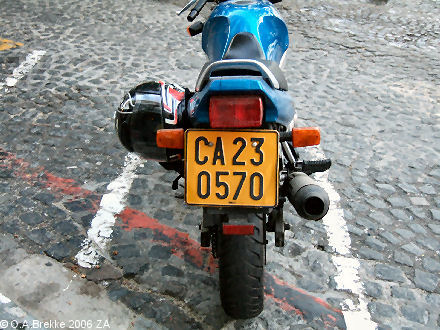 South Africa Western Cape normal series former style motorcycle CA 230570.jpg (65 kB)