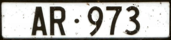 Swizerland normal series front plate AR·973.jpg (60 kB)