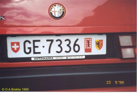 Switzerland temporary series rear plate GE·7336.jpg (20 kB)