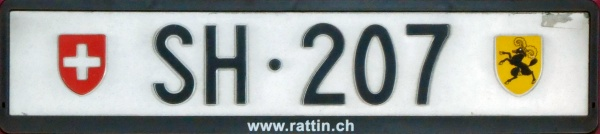 Switzerland normal series rear plate close-up SH·207.jpg (62 kB)