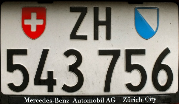 Switzerland normal series rear plate close-up ZH 543756.jpg (79 kB)
