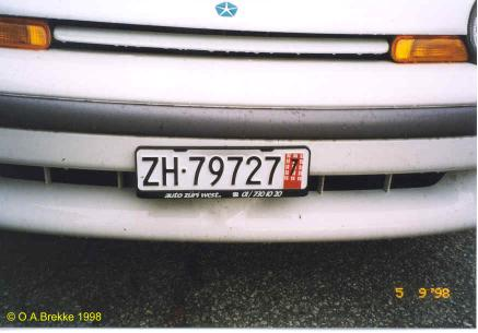 Switzerland temporary series front plate ZH·79727.jpg (22 kB)