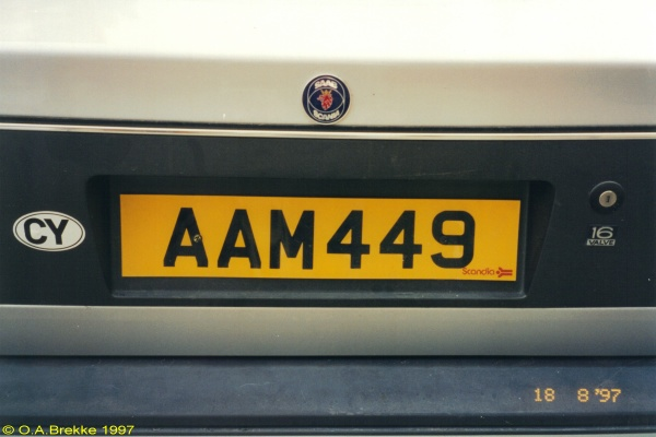 Cyprus normal series rear plate former style AAM 449.jpg (18 kB)