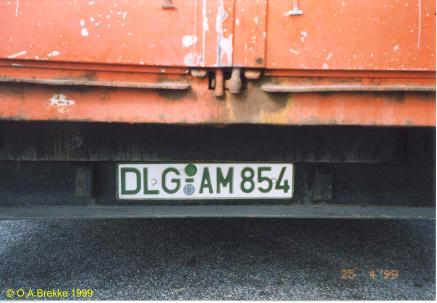 Germany road tax free series former style DLG-AM 854.jpg (23 kB)