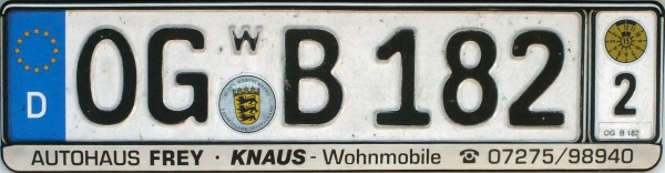 Germany transferable plate series close-up OG B 182 2.jpg (56 kB)