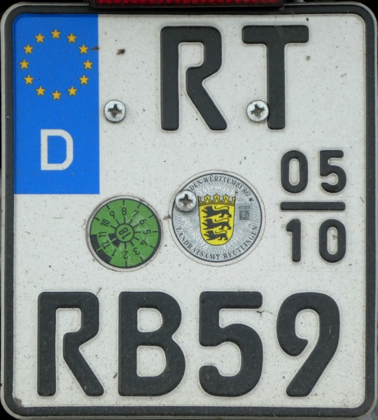 Germany seasonal motorcycle plate RT RB 59.jpg (159 kB)
