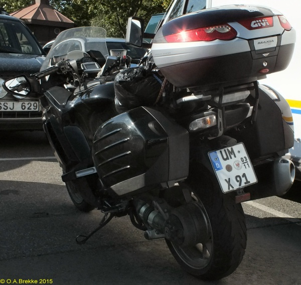 Germany seasonal motorcycle plate UM X 91.jpg (140 kB)