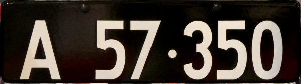 Denmark historically correct number plate close-up A 57·350.jpg (66 kB)
