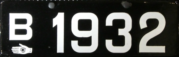 Denmark historically correct number plate close-up B 1932.jpg (64 kB)
