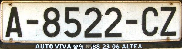 Spain former normal series close-up A-8522-CZ.jpg (56 kB)