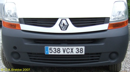 France former normal series front plate 538 VCX 38.jpg (42 kB)