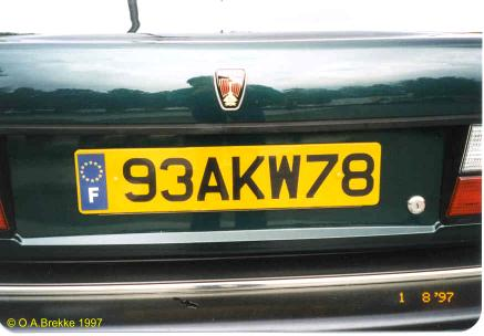 France former normal series rear plate 93 AKW 78.jpg (23 kB)