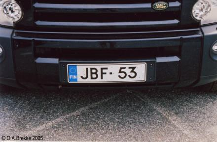 Finland former square plate series front plate JBF-53.jpg (24 kB)