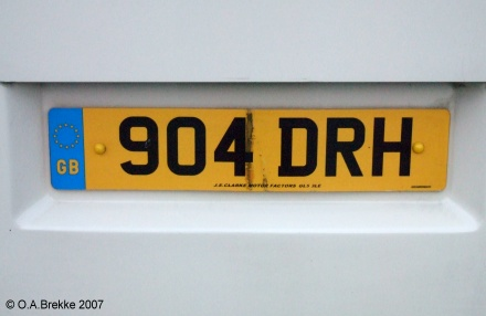 Great Britain former normal series remade as cherished number 904 DRH.jpg (38 kB)