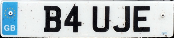 Great Britain former personalised series front plate close-up B4 UJE.jpg (35 kB)