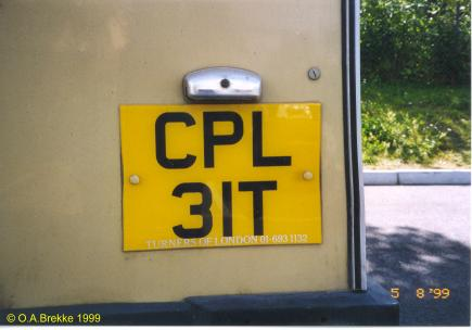 Great Britain former normal series rear plate CPL 31T.jpg (19 kB)