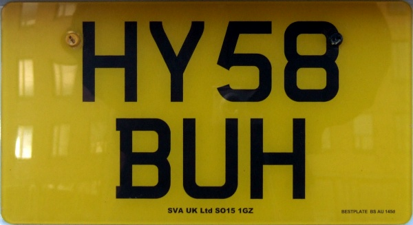Great Britain normal series rear plate American size close-up HY58 BUH.jpg (60 kB)