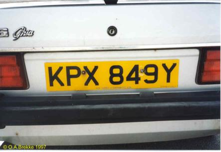 Great Britain former normal series rear plate KPX 849Y.jpg (20 kB)