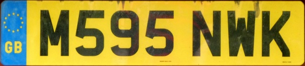 Great Britain former normal series rear plate M595 NWK.jpg (68 kB)