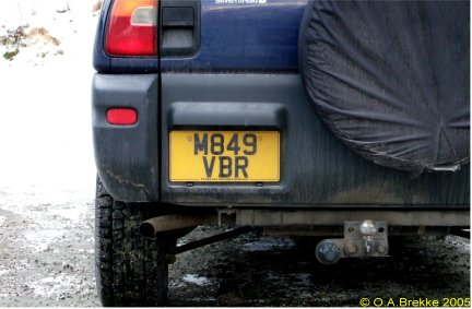 Great Britain former normal series rear plate M849 VBR.jpg (29 kB)