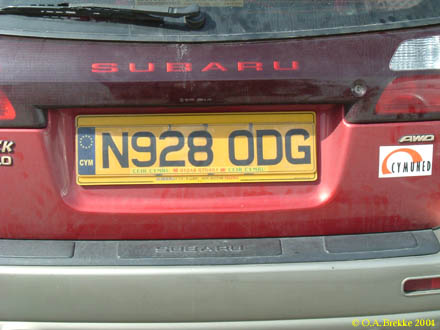 Great Britain former normal series rear plate N928 ODG.jpg (26 kB)