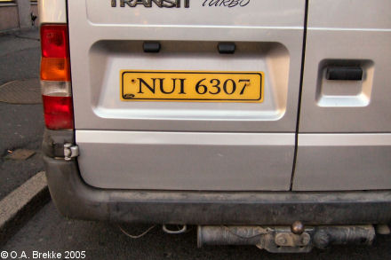 Northern Ireland normal series rear plate NUI 6307.jpg (33 kB)