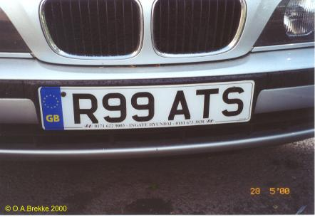 Great Britain former personalised series front plate R99 ATS.jpg (22 kB)