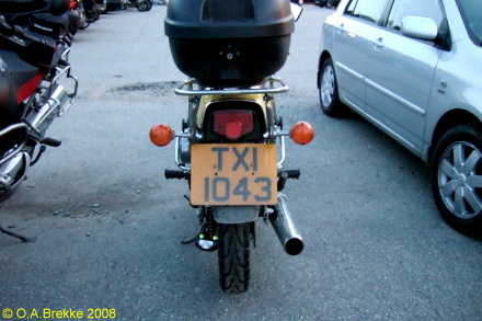 Northern Ireland normal series motorcycle TXI 1043.jpg (79 kB)