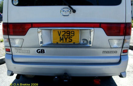 Great Britain former normal series rear plate V299 MYS.jpg (53 kB)