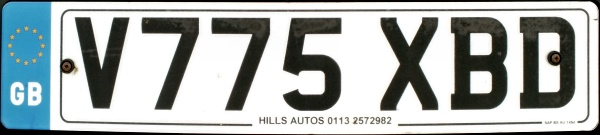 Great Britain former normal series front plate close-up V775 XBD.jpg (39 kB)