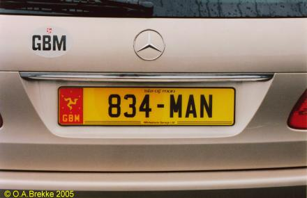 Isle of Man former normal series rear plate reissued 834-MAN.jpg (19 kB)