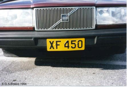 Luxembourg former normal series front plate XF 450.jpg (27 kB)