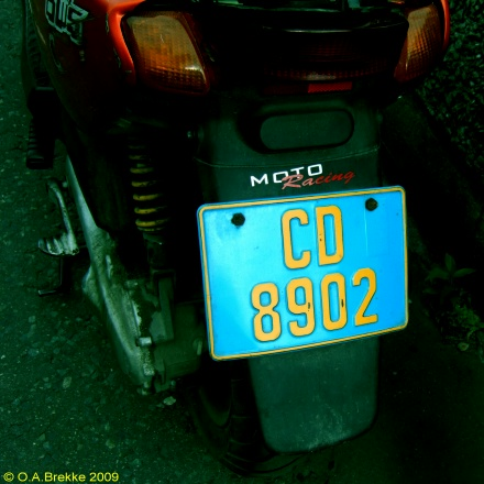 Norway diplomatic moped series former style CD 8902.jpg (79 kB)