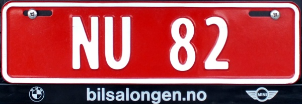 Norway former trade plate series close-up NU 82.jpg (57 kB)