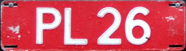 Norway former trade plate series close-up PL 26.jpg (45 kB)