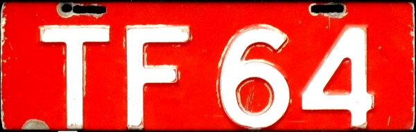 Norway former trade plate series close-up TF 64.jpg (55 kB)