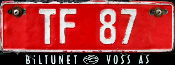 Norway former trade plate series close-up TF 87.jpg (68 kB)