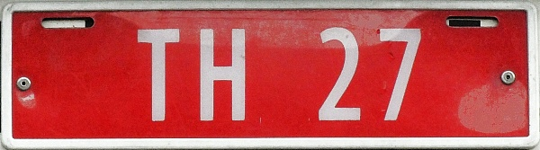 Norway former trade plate series close-up TH 27.jpg (54 kB)