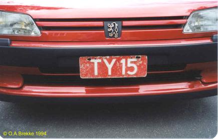 Norway former trade plate series TY 15.jpg (21 kB)