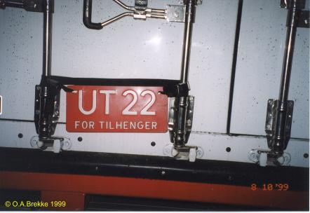 Norway former trade plate series trailer UT 22.jpg (22 kB)