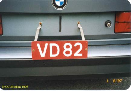 Norway former trade plate series VD 82.jpg (19 kB)