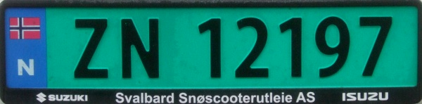 Svalbard registration imported to mainland Norway close-up ZN 12197.jpg (40 kB)