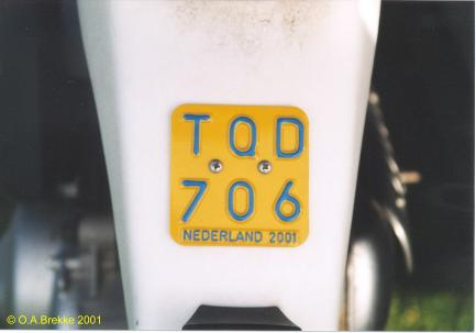 Netherlands moped series 2001 issue TQD 706.jpg (14 kB)