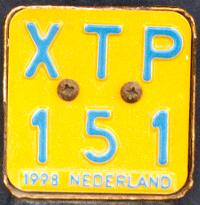Netherlands moped series 1998 close-up XTP 151.jpg (10 kB)