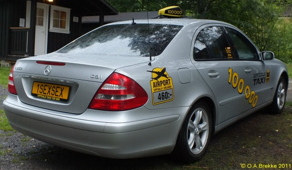 Sweden personalized taxi series former style 1SEXSEX.jpg (100 kB)