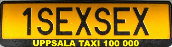 Sweden personalized taxi series former style close-up 1SEXSEX.jpg (57 kB)