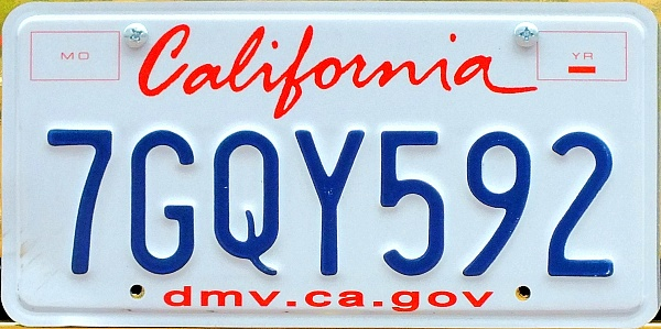 USA California normal series close-up 7GQY592.jpg (97 kB)